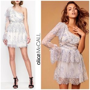NWT Alice McCall One Shoulder Lace Ruffle Dress